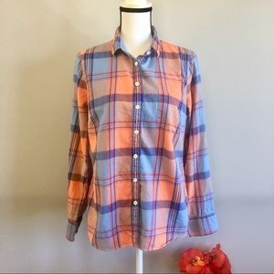 J. Crew plaid flannel button down top